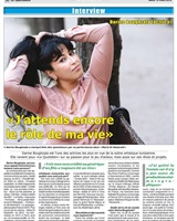 Article de l'interview paru dans 1le Journal Le Quotidien