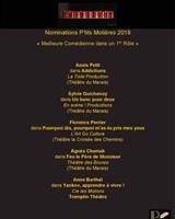 Liste des nominées P'tits Molières 2019
