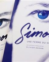 couv dossier de présentation et scénario du biopic Simone d'Olivier Dahan par aureldesign©