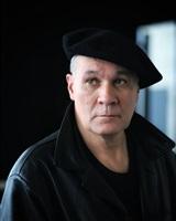 Bernard Chabin cuir noir et béret