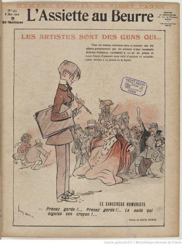 A Loccasion Du Lancement Premier Numro De La Revue Satirique Les Hommes Jour Lance Par Victor Mric En 1908 Lartiste Aristide Delannoy Ralise