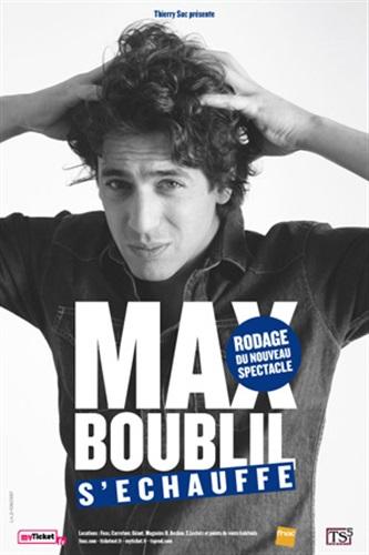 Joyeux Noel Max Boublil.Théâtre De La Clarté Spectacle Max Boublil S Echauffe