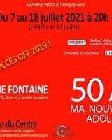 Affiche 50 ans - Avignon 2021<br />