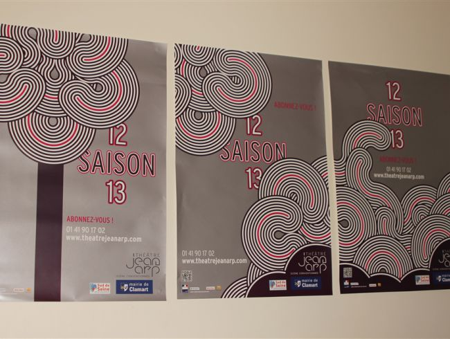 Affiches Saison 12-13 dans les bureaux