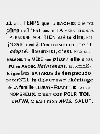 modele de lettre anonyme Famille décomposée | Le Corbo | Ventscontraires.net, la revue en  modele de lettre anonyme